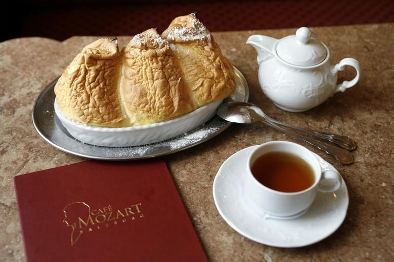 Salzburger Nockerln in the Cafe Mozart, Salzburg