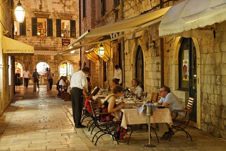 Proto restaurant in old town, Dubrovnik
