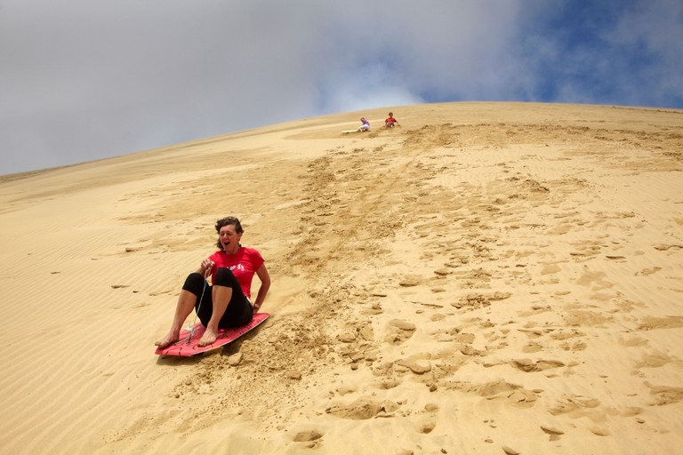 Sand boarding, Te Paki sand dunes