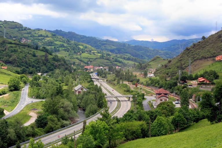 View of Asturias, near Oviedo, Spain
