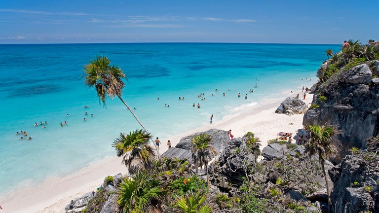 A beach in Tulum