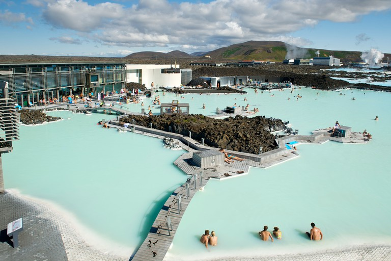 The Blue Lagoon near Reykjavik in Iceland.