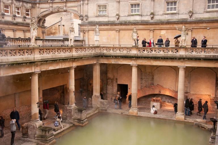The Roman baths of the World Heritage City Bath, England.
