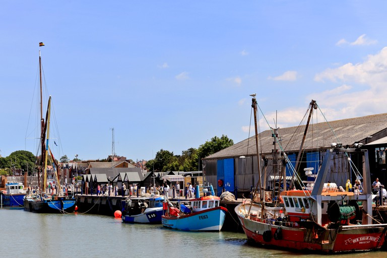 Harbour in Whitstable, Kent.