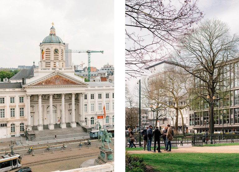 Left: Place Royale in Brussels | Right: European Quarter