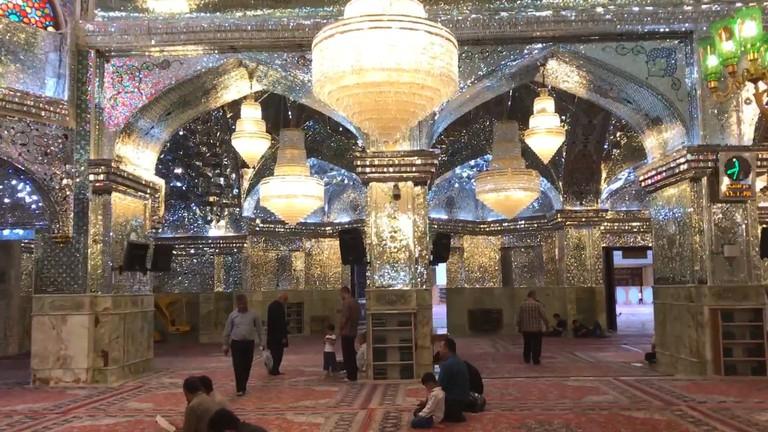 CTUG18 - 0196 - Inside the Shah Cheragh Mosque in Shiraz, Iran - in body