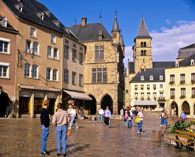 Town square, Echternach, Luxembourg, Europe