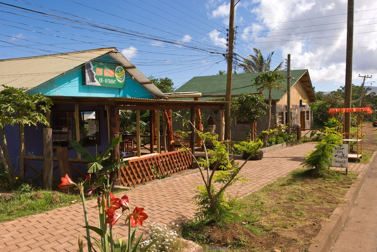 Town shops on Easter Island