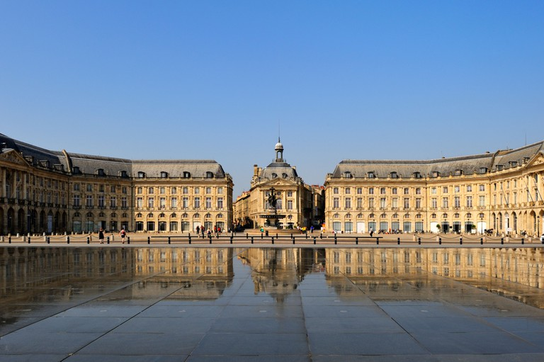 Le Miroir d'Eau (Mirror of Water) by Corajoud, Place de la Bourse, Bordeaux, Gironde, Aquitaine, France