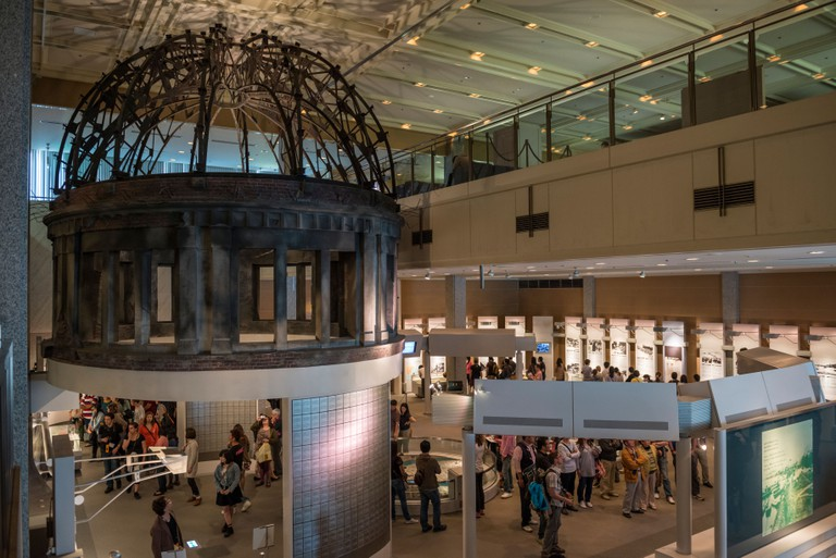 Reproduction of the A-Bomb Dome in Hiroshima Peace Memorial Museum, Japan