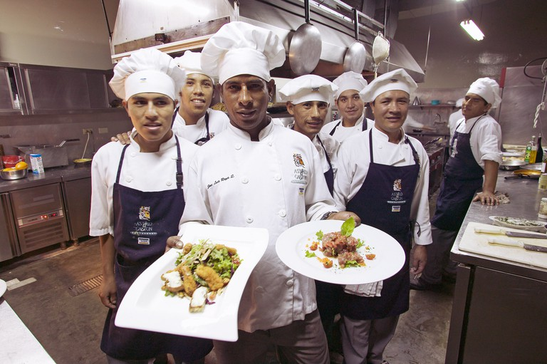 Cooks in Restaurante Astrid y Gaston. Lima. Peru.