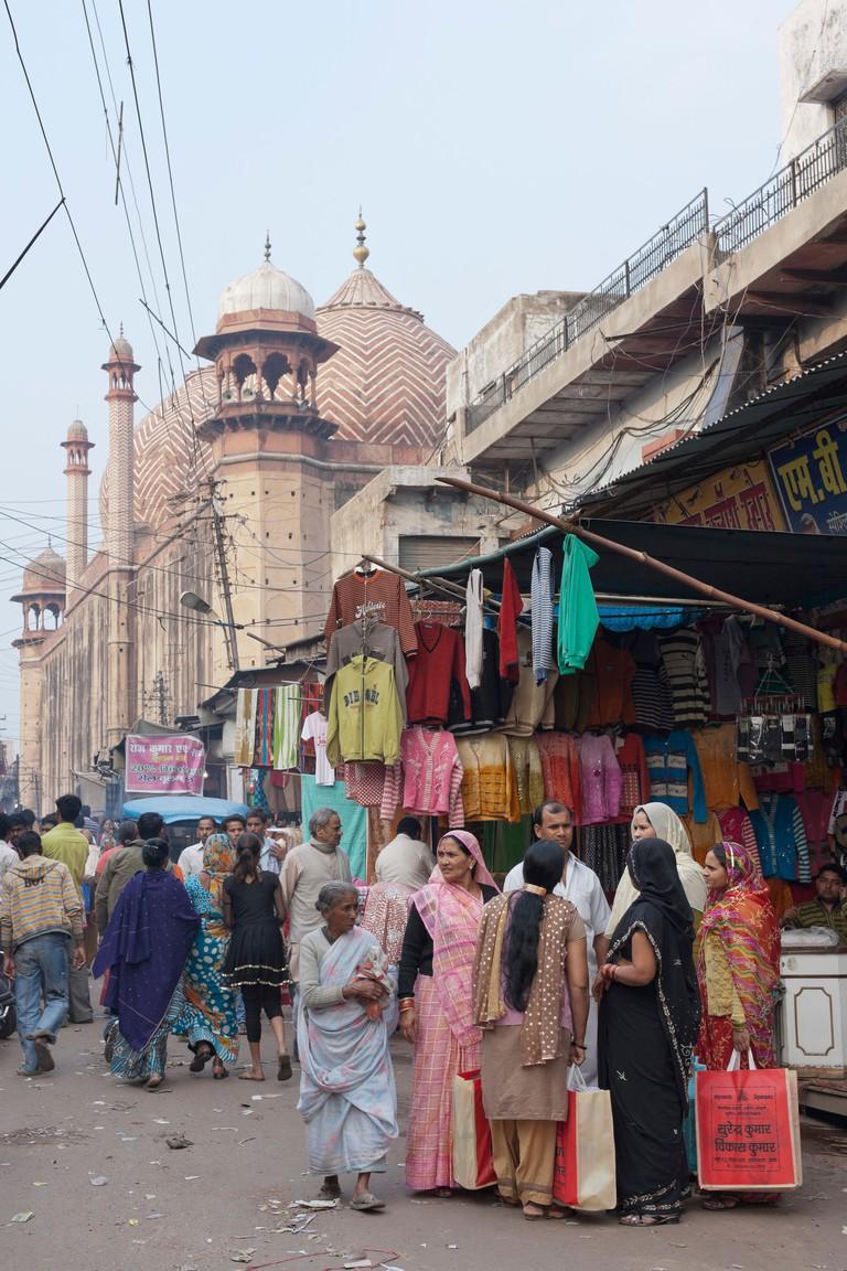 Market stalls along Jama Masjid mosque