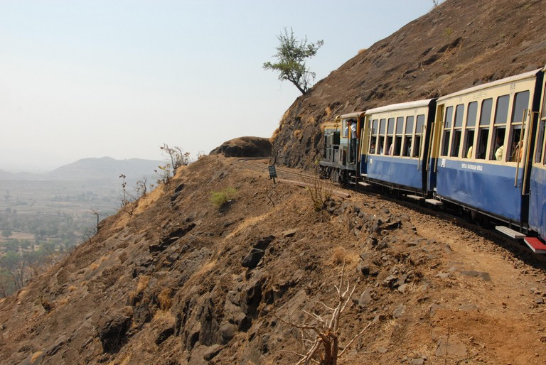The toy train that climbs from Neral to the road-less Matheran plateau, Matheran
