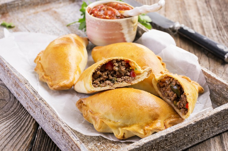 empanadas with minced meat. Image shot 07/2014. Exact date unknown.