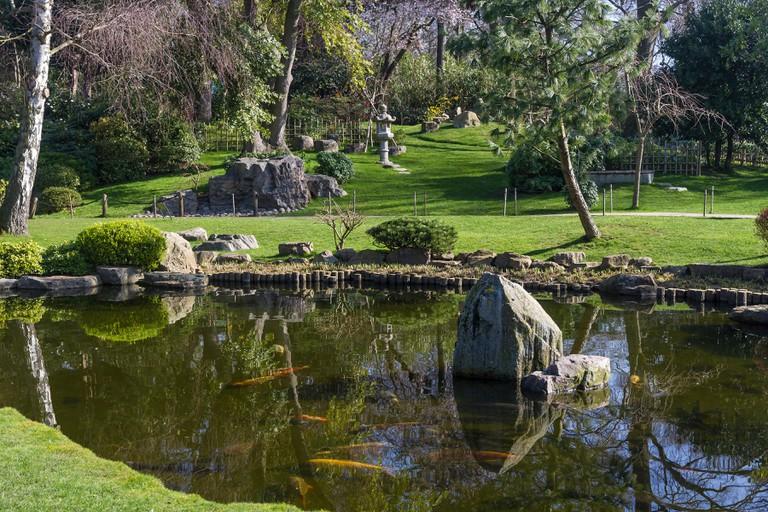 England London, Holland Park, Kyoto garden