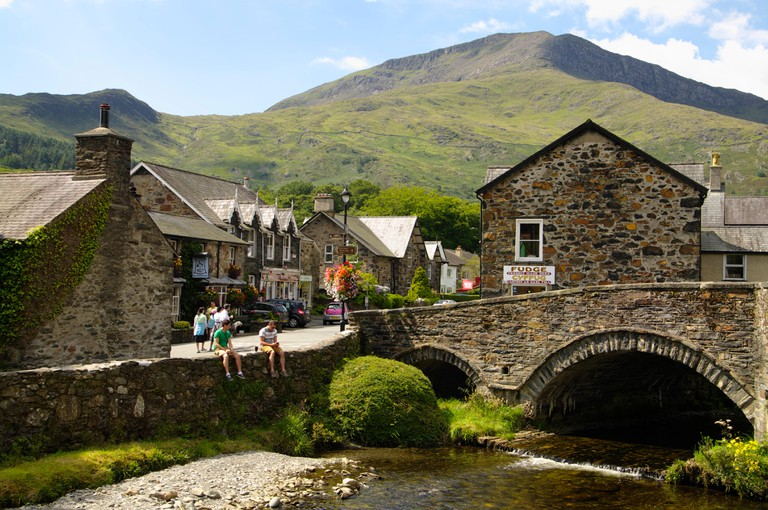 Beddgelert village in Snowdonia National Park