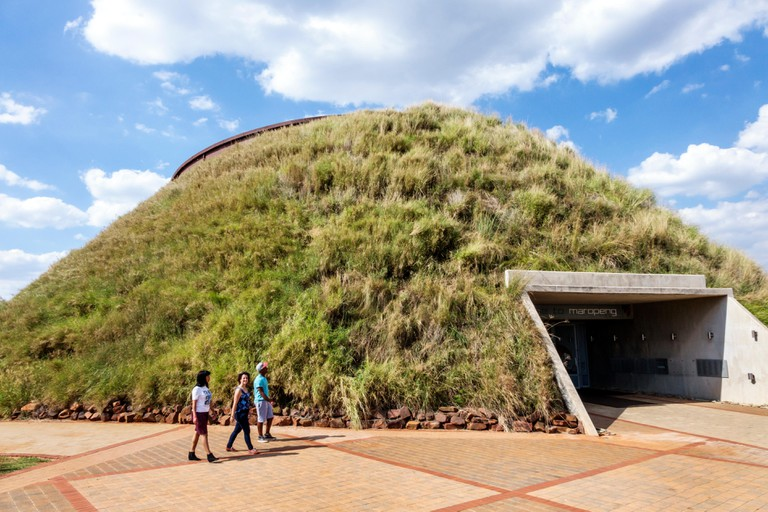 Johannesburg South Africa African Maropeng Visitors Centre center hominin site human ancestor Cradle of Humankind World Heritage Site Tumulus building