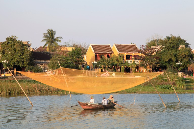 Fishing on Thu Bon River, Hoi An
