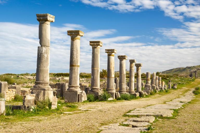 Volubilis, ancient Roman city in Zerhoun Mountains