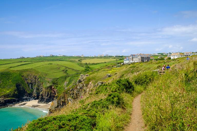 South West Coast Path at Housel Bay, Lizard Peninsula, Cornwall