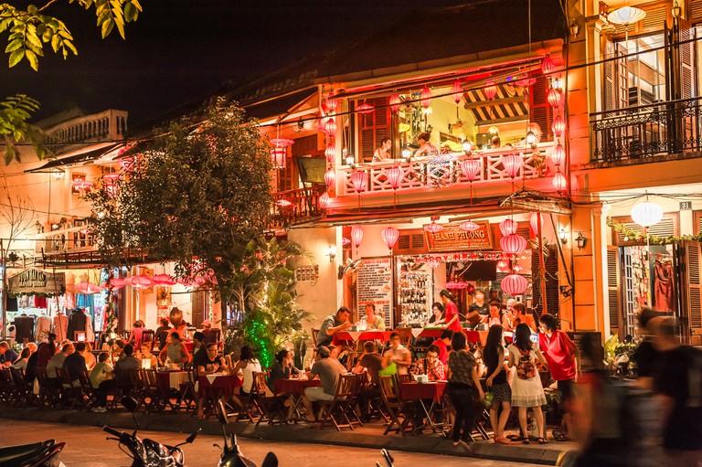 Vietnam nightlife in Hoi An, Central Vietnam.