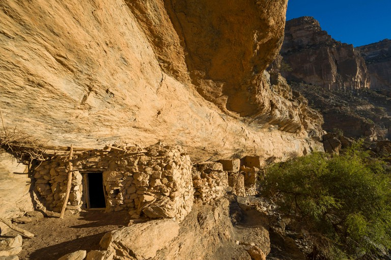 As Sab abandoned cave dwellings