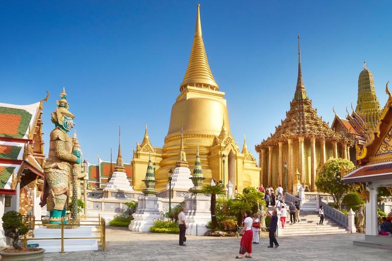 Thailand - Bangkok, Grand Royal Palace, Wat Phra Kaeo, Golden Chedi