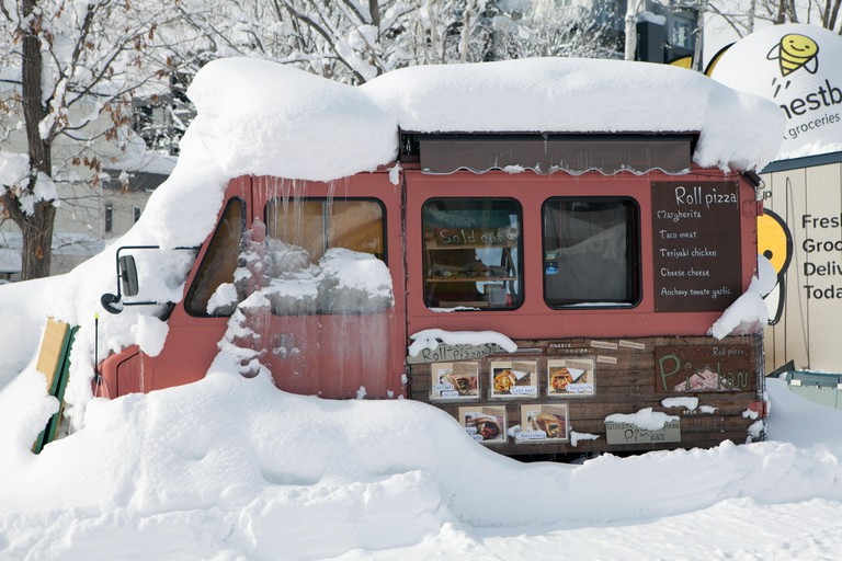 A food truck in Niseko