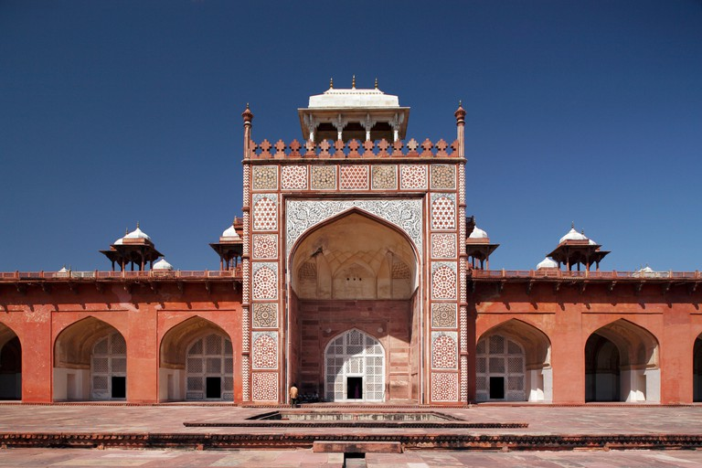 Architecture heritage Akbar's tomb, Agra.