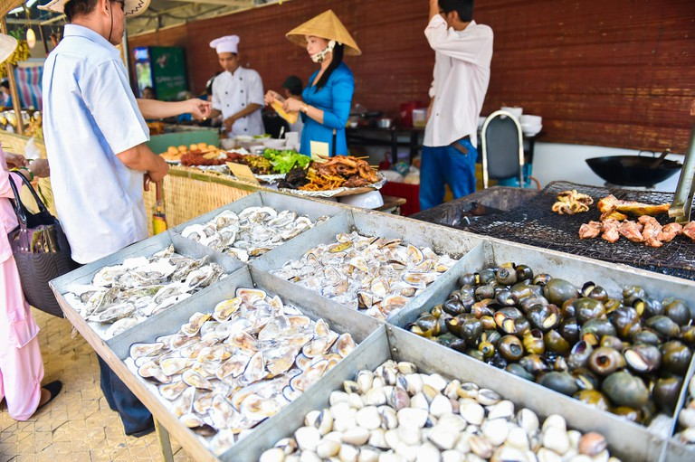 Seafood products at Vietnam's Southern Food Festival in Ho Chi Minh City, Vietnam.
