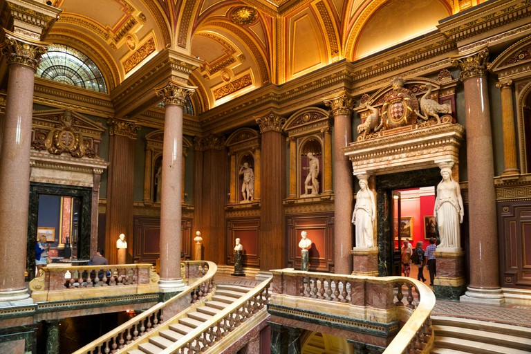 Staircase Hall, Fitzwilliam Museum, Cambridge, England, UK, GB