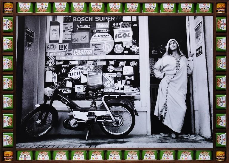 Garage Hajjaj-Walnut frame