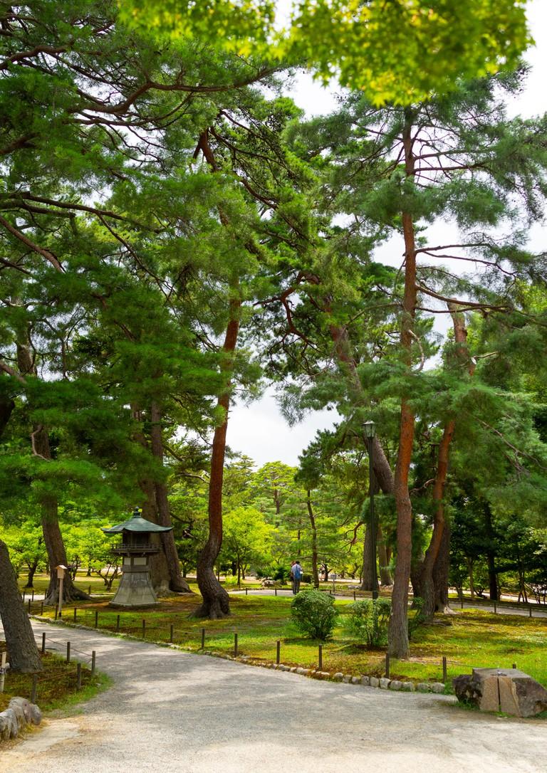 Kenroku-en garden, Kanazawa, Japan.