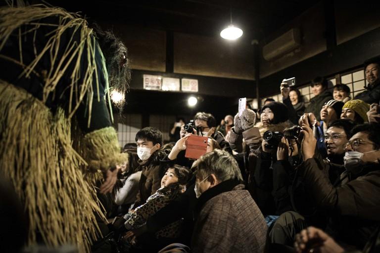 Namahage Festival Performance at the Namahage Museum in Oga