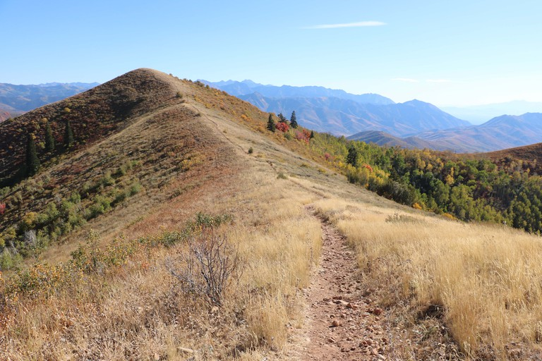Ridgeline hiking in the Wasatch Mountains