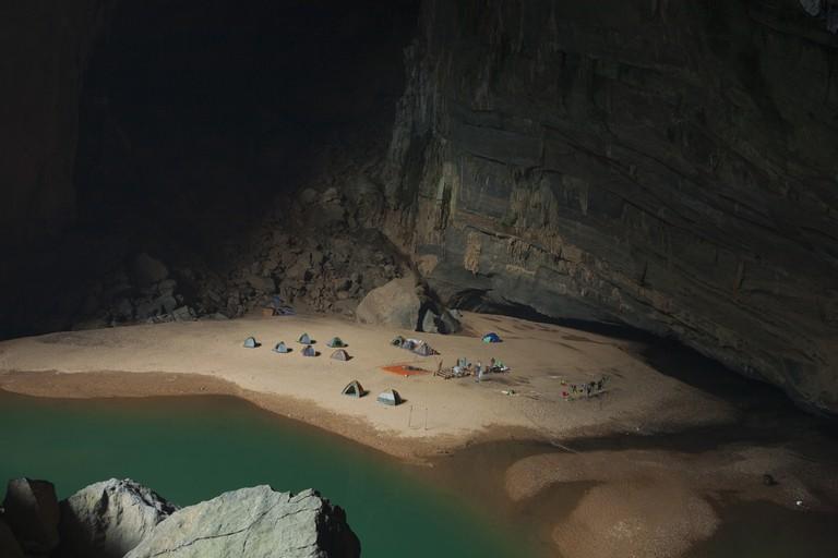 Campsite in the Hang En cave