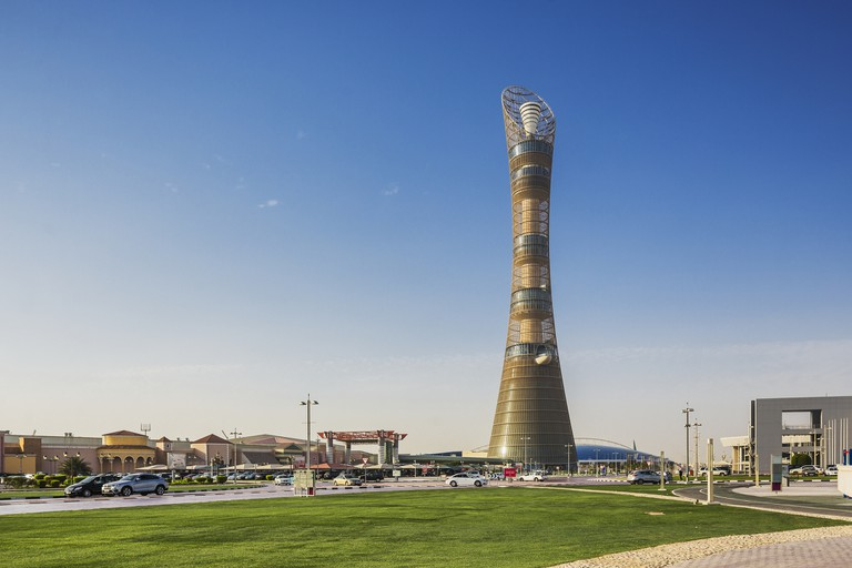 Aspire Zone, view of the Torch Tower (Aspire Tower, now Torch Hotel)