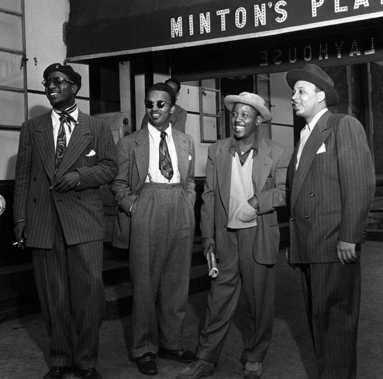 Photo of Thelonious MONK and MINTONS and JAZZ CLUBS and Howard McGHEE
