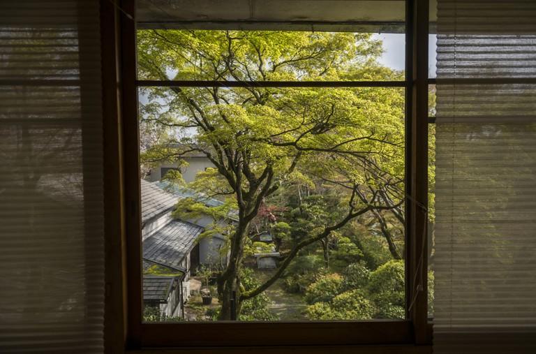 Arima Onsen village from hotel window