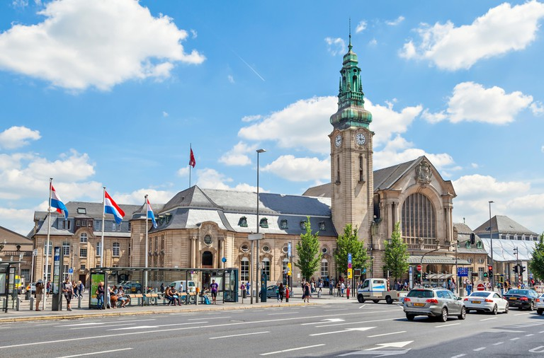 Luxembourg - June 19 2014: Gare Centrale train station in Luxembourg City