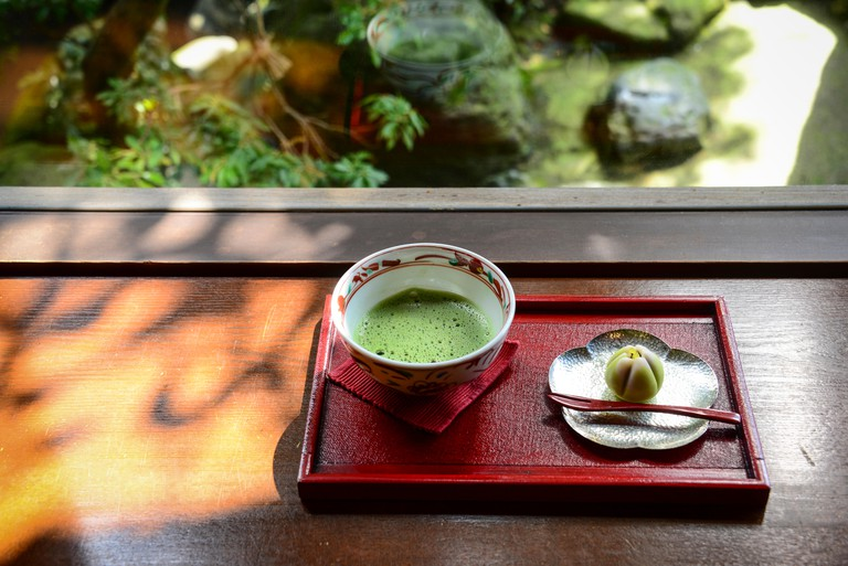 Japanese Sweets and Matcha Tea