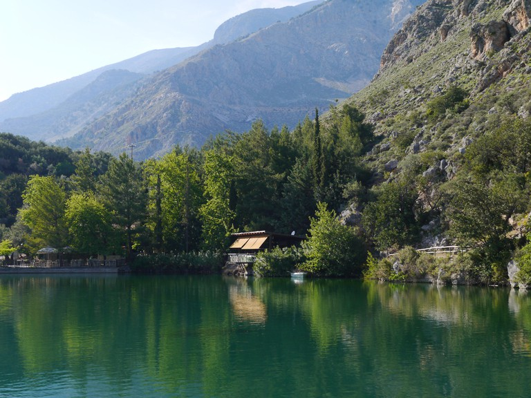 Mountain lake in Zaros, Crete
