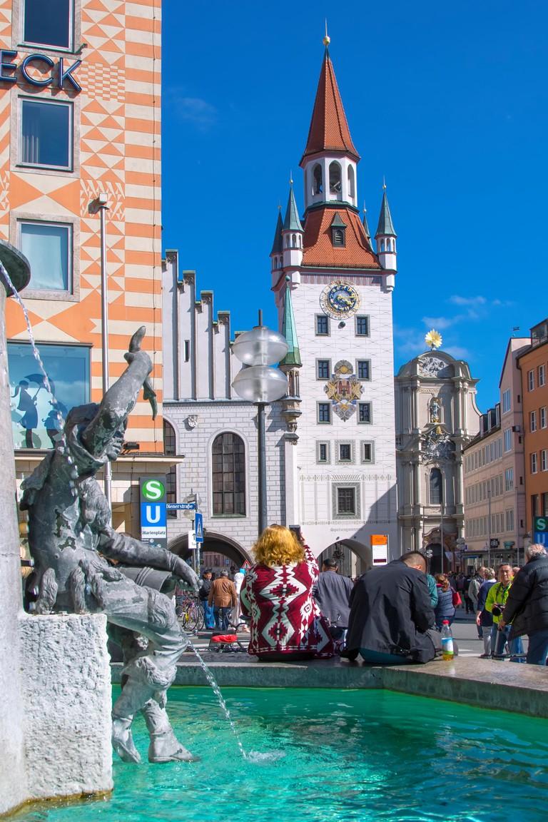 Old town  Hall at Marienplatz, Munich
