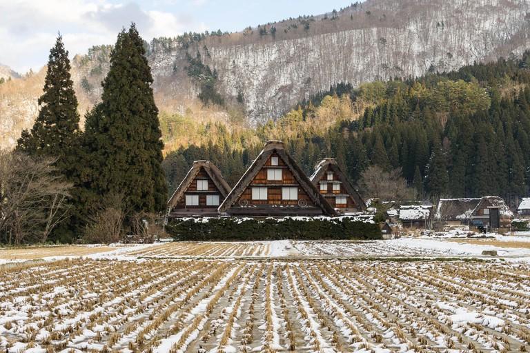 Gassho Zukuri House in Shirakawa-Go in Gifu, Japan.