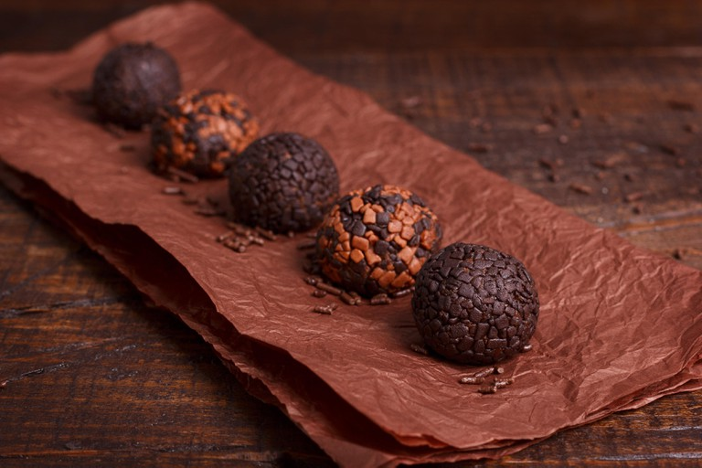 Brazilian chocolate bonbon brigadeiro
