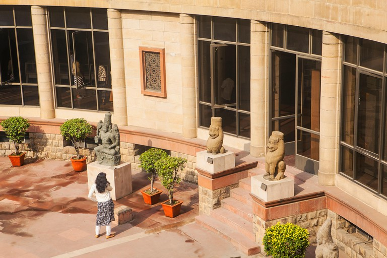 Courtyard of National Museum in Delhi India