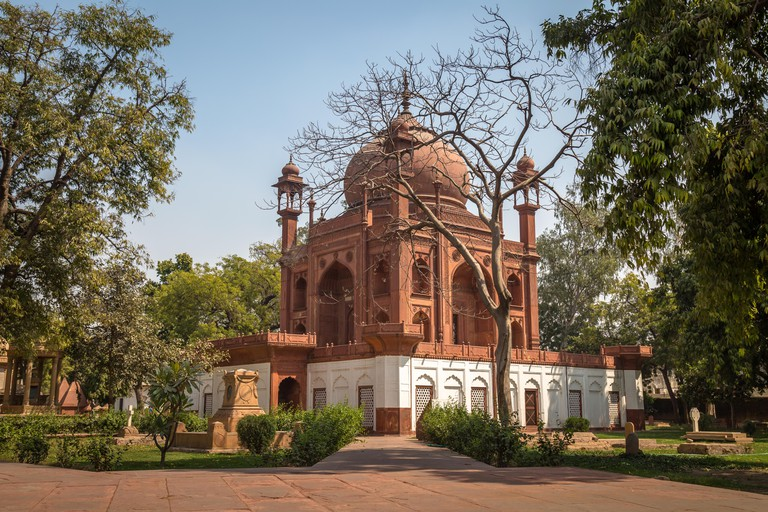 Red Taj Mahal in Agra is a roman catholic cemetery with Col. Hessing tomb