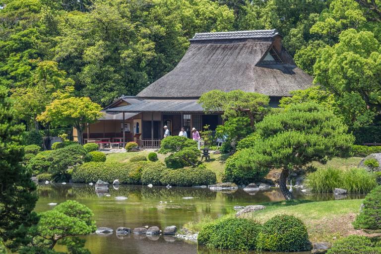 Tea house in Suizenji Garden