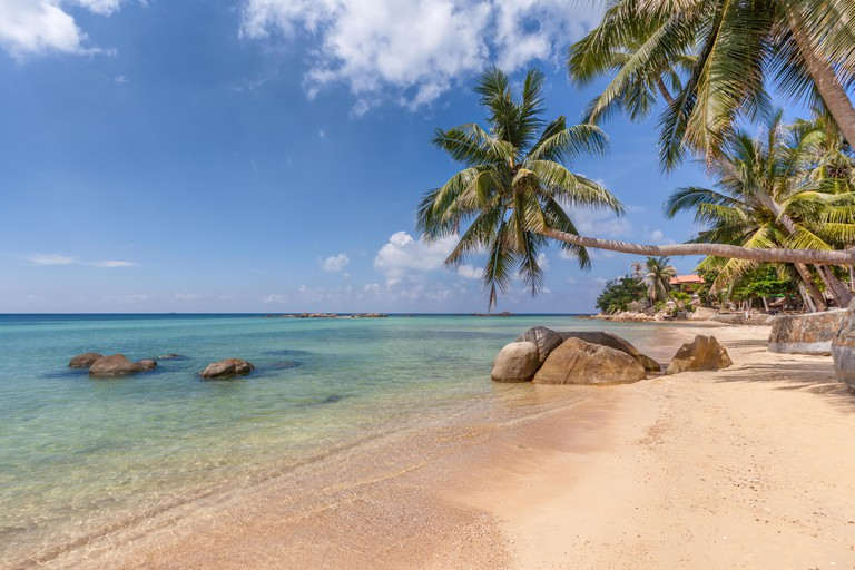 Phao Beach, Haad Chao, Koh Phangan island, Thailand