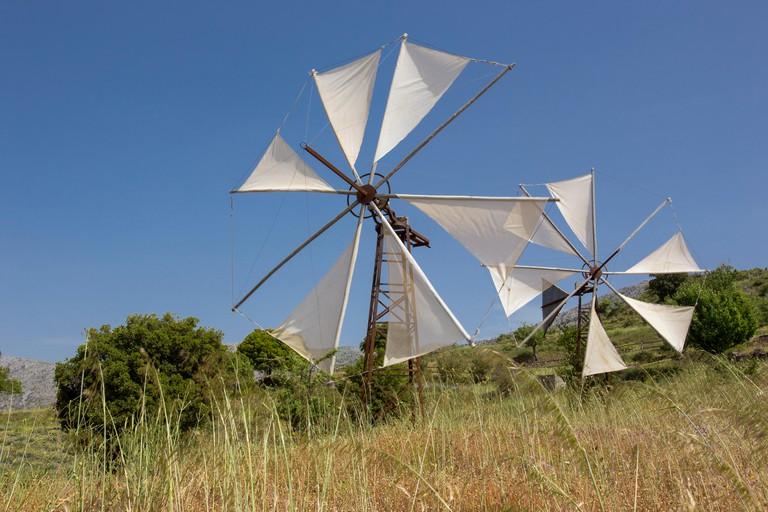 Wind turbines at Lasinthos Eco Park